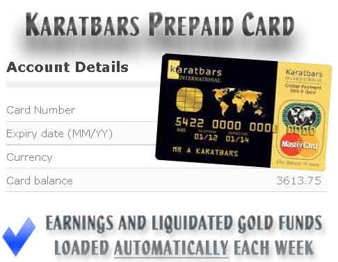 Karatbars prepaid card