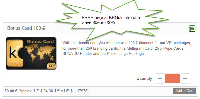 get bonus card
